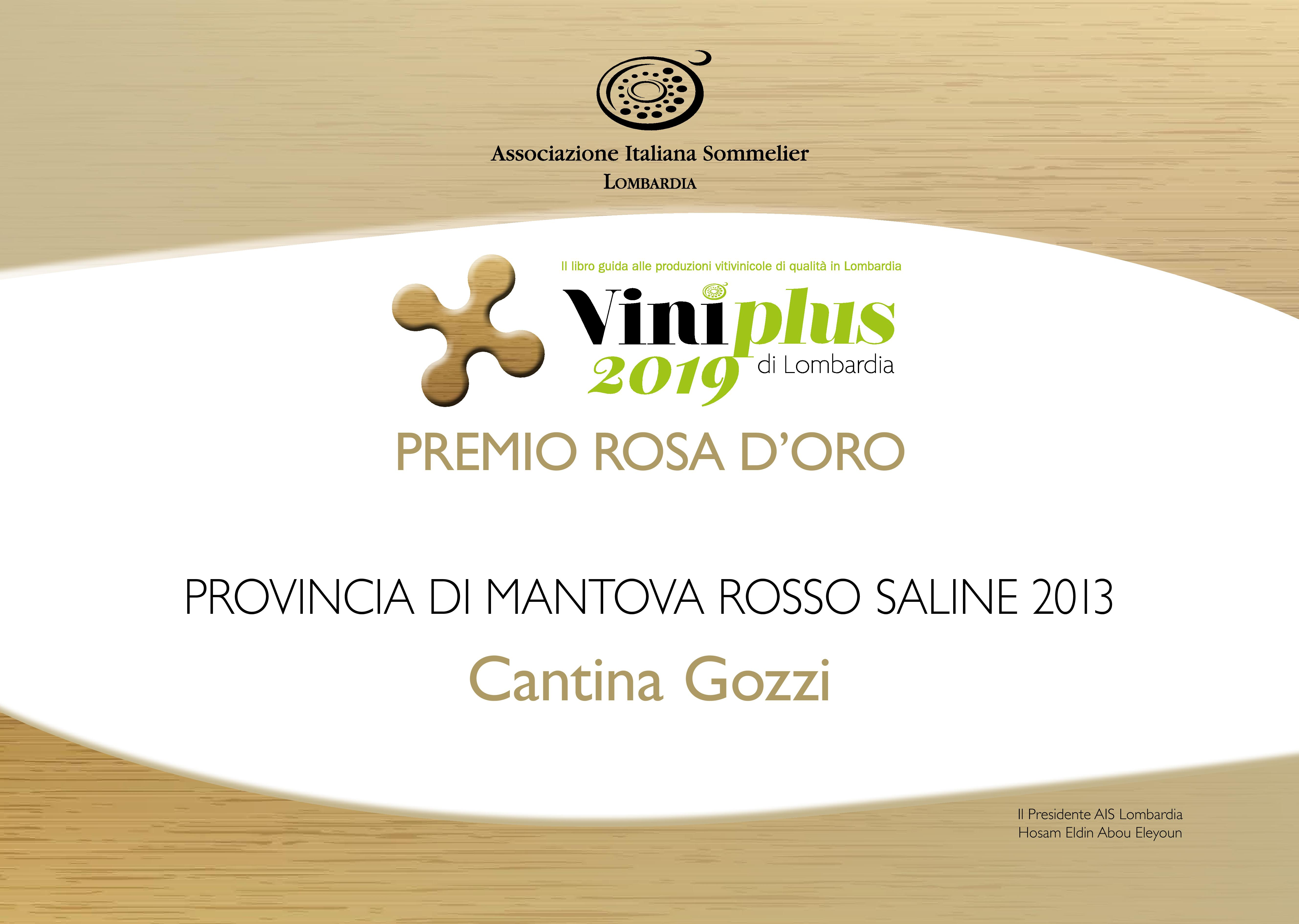 Viniplus 2019 Rosa Oro Saline 2013